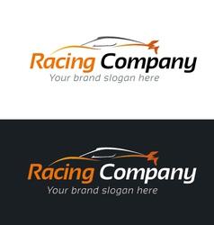 Racing Company Logo Template vector image