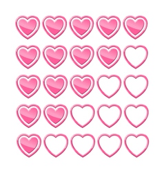 Rating of hearts vector image