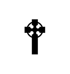 religion symbol celtic cross icon element of vector image