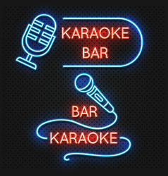 Roadside karaoke night club signboard vector