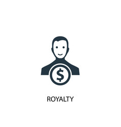 royalty icon simple element royalty vector image
