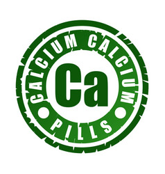 Rubber stamp with mineral ca calcium vector