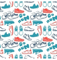 Running seamless pattern vector