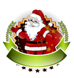 santa claus cartoon for you design vector image
