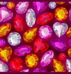 seamless sparkling gems vector image