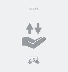 Service offer - transfer concept - minimal icon vector