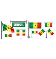 set national flag senegal vector image