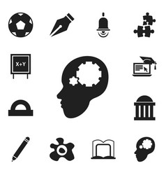 set of 12 editable science icons includes symbols vector image