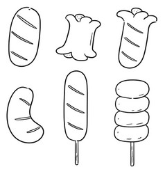 set of sausages vector image