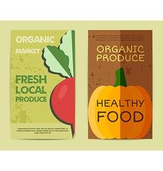 set stylish farm fresh flyer template or vector image