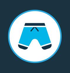 Shorts icon colored symbol premium quality vector