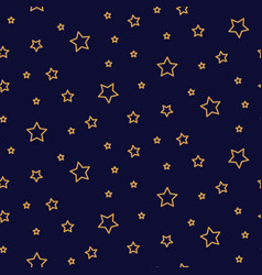 starry night seamless pattern background blue and vector image