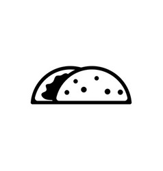 taco mexican dish flat icon vector image