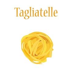 Tagliatelle pasta vector image