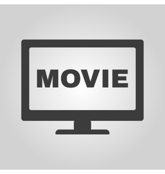 The movie icon Television and tv cinema film vector image
