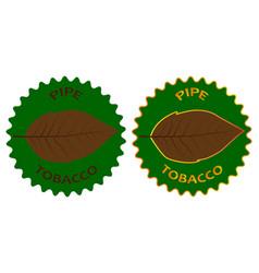 tobacco pipe sticker vector image