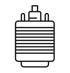 vga adapter icon outline style vector image