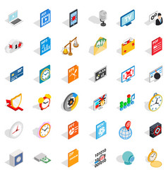 video icons set isometric style vector image