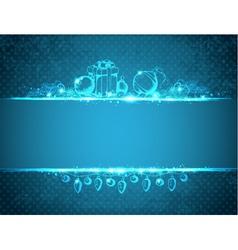 Vintage blue Christmas background vector image