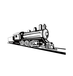Vintage Train Retro Side View vector image