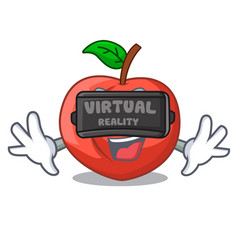 Virtual reality cartoon fresh sweet nectarines in vector