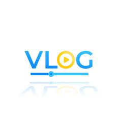 vlog video blogging logo design vector image