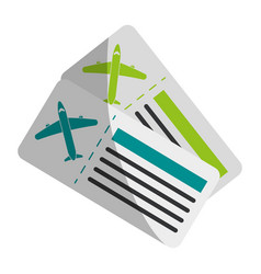 Boarding pass two icon image vector