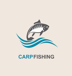 carp fish icon vector image