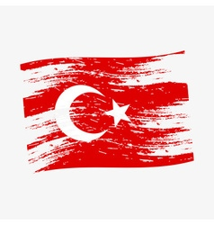 color turkey national flag grunge style eps10 vector image vector image
