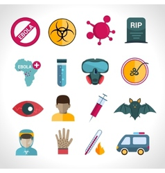 Ebola virus icons vector image