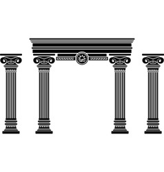 fantasy arch and columns stencil sixth variant vector image vector image