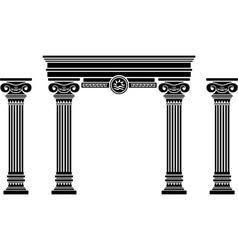 Fantasy arch and columns stencil sixth variant vector