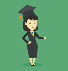 graduate giving thumb up vector image