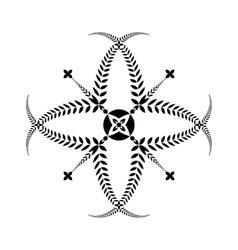 Laurel wreath tattoo Cross sign on white vector image