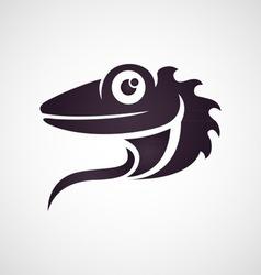 Lizard logo vector image vector image