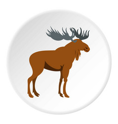 Moose icon circle vector