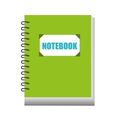 notebook text school icon vector image