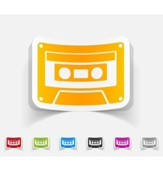 realistic design element audiocassette vector image vector image