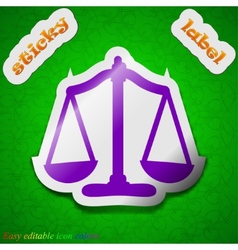 Scales balance icon sign Symbol chic colored vector image vector image