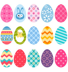 set of colorful easter eggs icons vector image vector image