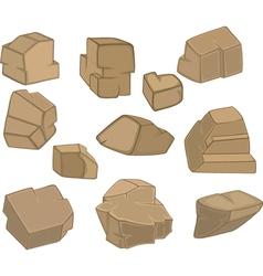 Set of Stones Rock elements vector image vector image
