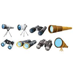Different telescope designs vector image vector image