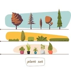 houseplants indoor and office vector image vector image