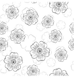 Pattern with stylized flowers vector