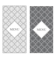 seamless design texture menu Vintage frame vector image