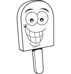 Cartoon frozen treat smiling vector image vector image