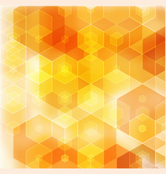 Geometric orange background with triangular vector