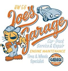 Joe tiger garage vector