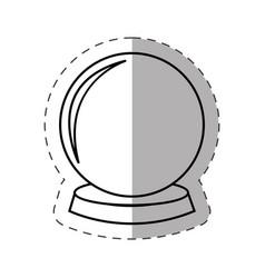 magic crystal ball cut line vector image