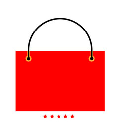 shopping bag icon different color vector image vector image